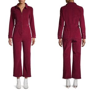 Free People Take Me Out Corduroy burgundy jumpsuit